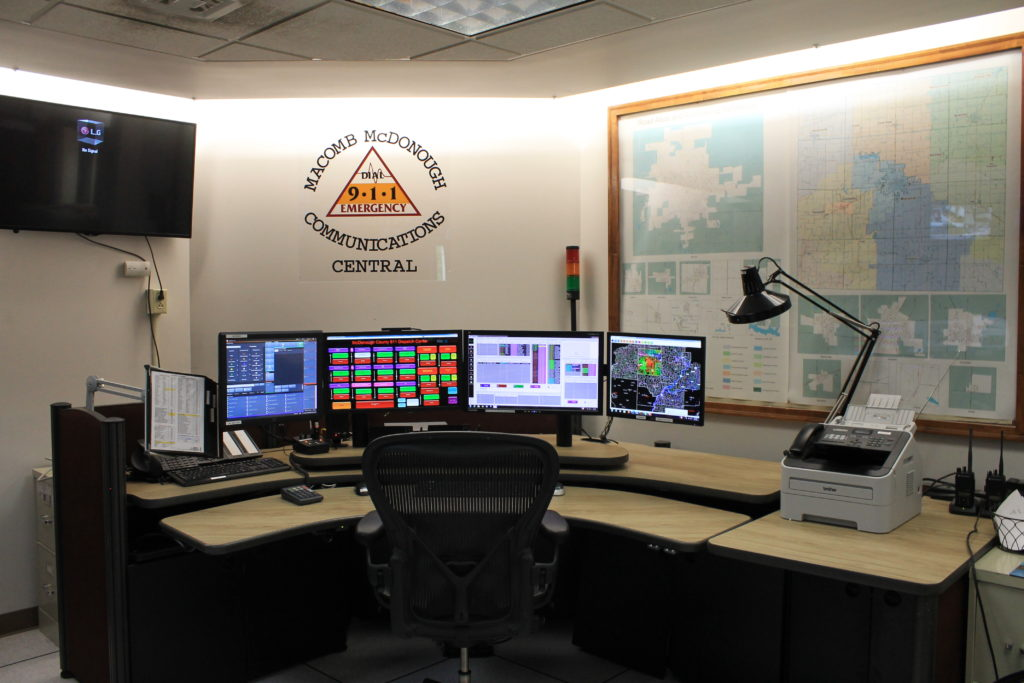 911 dispatch area.
